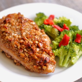 Honey Pecan Chicken is sweet, crunchy, flavorful and FAST. It's five ingredients and 20 minutes worth of everything you want in dinner recipe and nothing you don't.