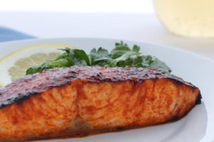 Tangy, sweet, and deeply smoky this Smoky Lemon Honey Salmon is a fast dinner that packs a huge amount of flavor.