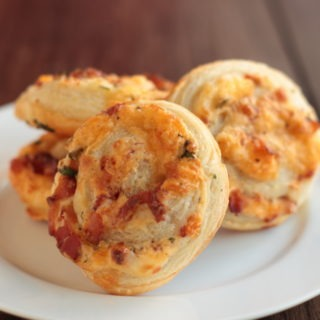 Cheesy Bacon Pinwheels