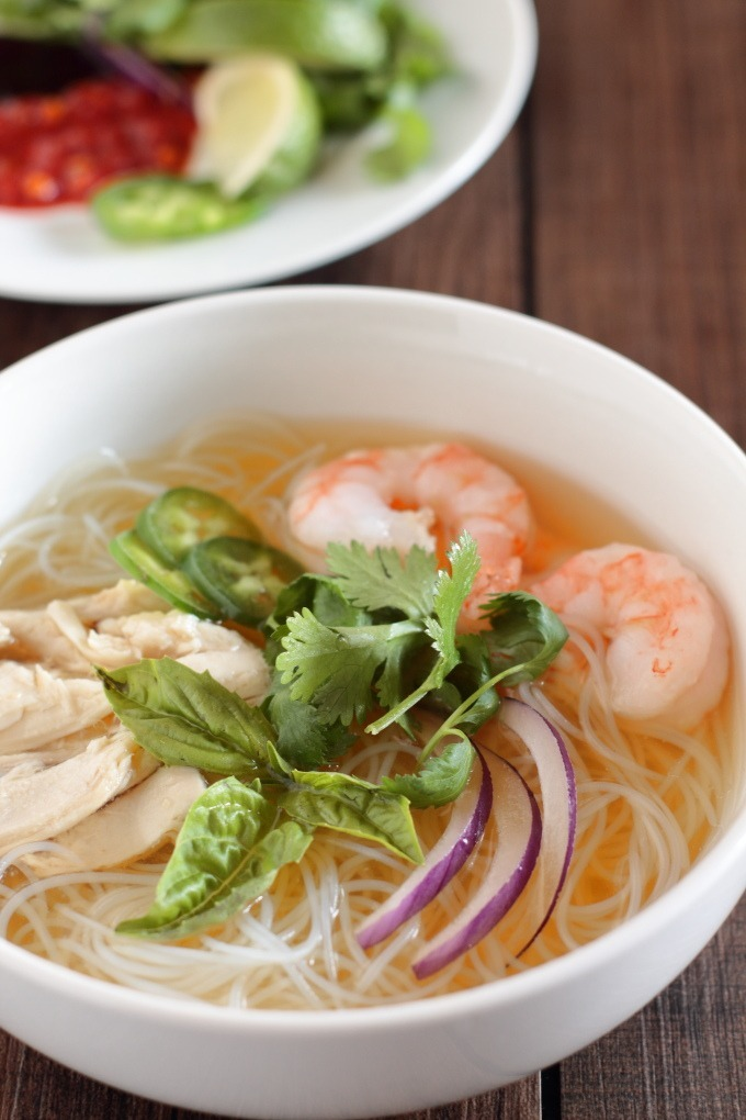 Chicken And Shrimp Pho Vietnamese Chicken Noodle Soup