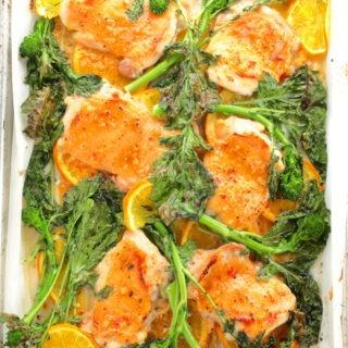one pan sheet pan orange chicken recipe